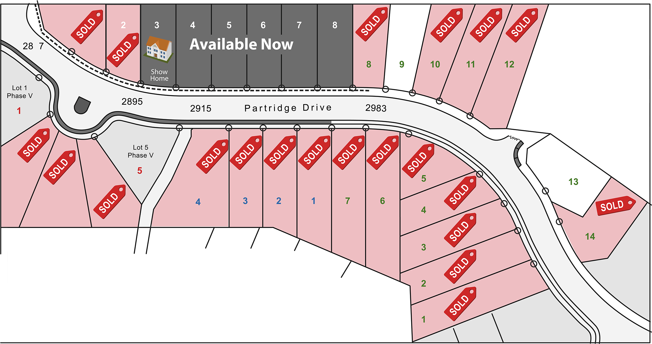 Pineview Plateau Lot Map